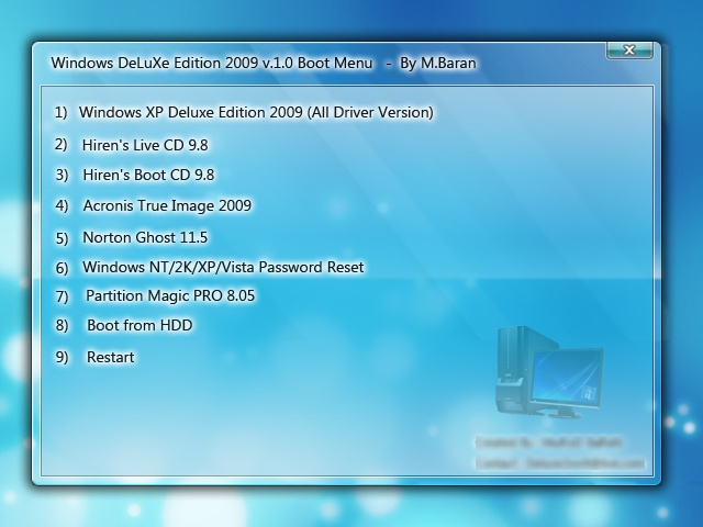 Windows XP Deluxe Edition 2009 1 0 Multi Bootable | Hatake Room